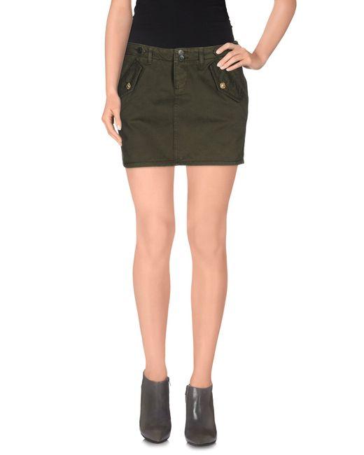 liu jo mini skirt in green green lyst