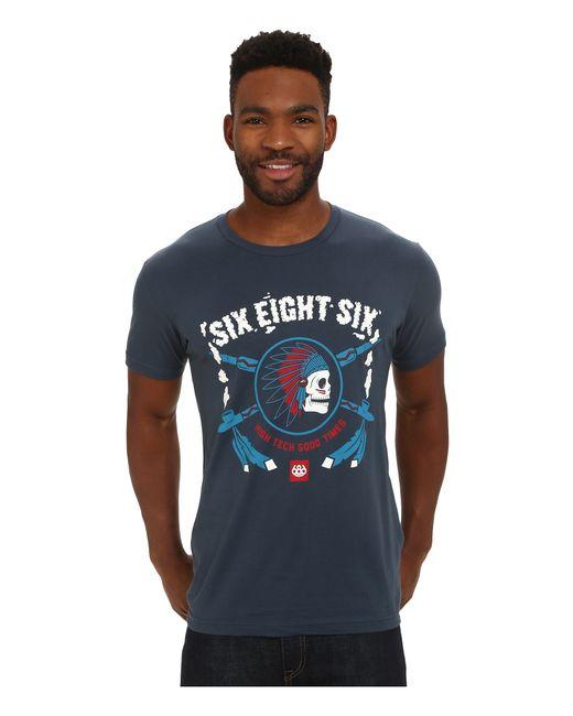 686   Blue Spirit Short Sleeve T-shirt for Men   Lyst