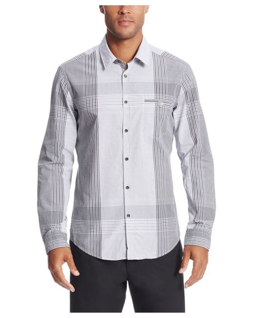 Boss Green 39 Bariko 39 Regular Fit Cotton Plaid Button