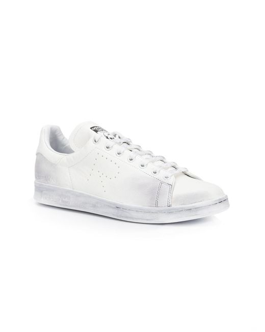 Adidas By Raf Simons | White Stan Smith Aged Sneakers | Lyst