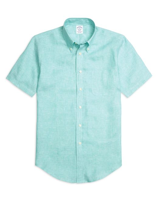 Brooks brothers regent fit linen short sleeve sport shirt Brooks brothers shirt size guide