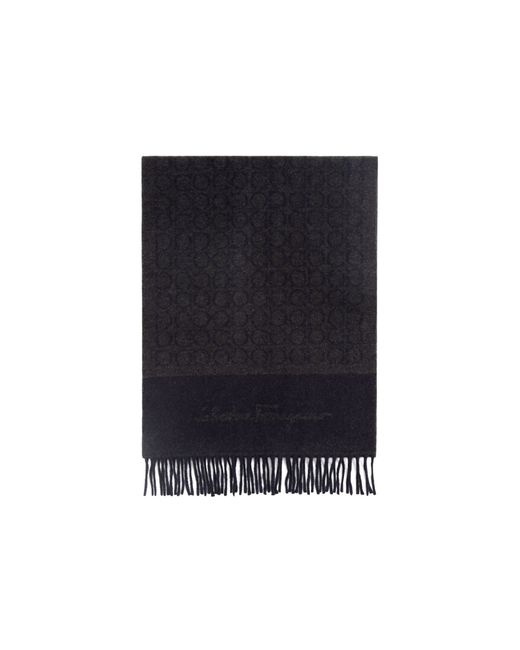 Ferragamo | Blue Gancini Heavyweight Scarf for Men | Lyst
