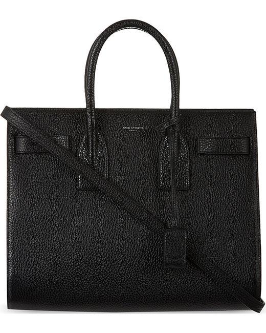 Saint Laurent | Black Sac De Jour Small Grained Leather Tote | Lyst