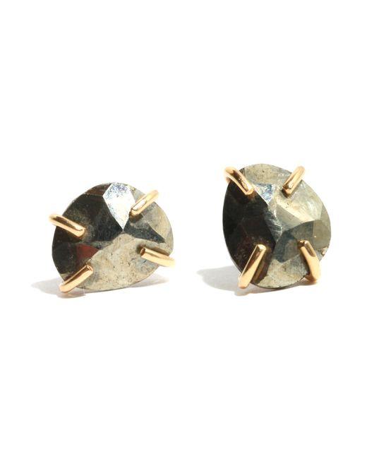 Melissa Joy Manning   Metallic Pyrite Stud Earrings   Lyst