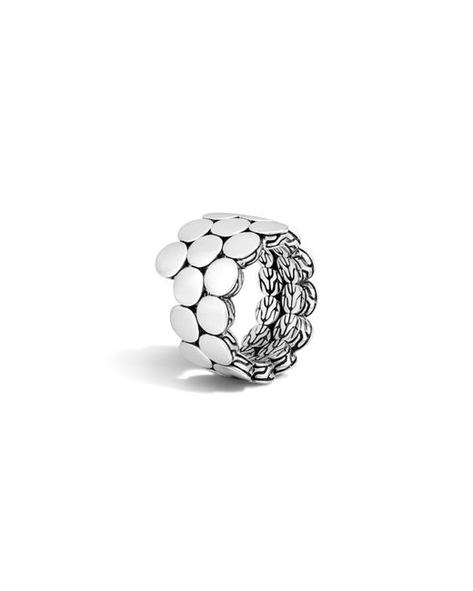 John Hardy | Metallic Dot Sterling Silver Double Coil Ring | Lyst