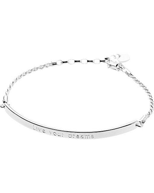Thomas Sabo   Metallic Love Bridge Blackened Sterling Silver Bracelet   Lyst
