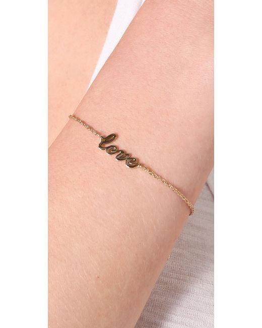 Jennifer Zeuner | Metallic Cursive Love Bracelet | Lyst