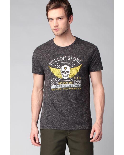 Volcom | Gray T-shirt for Men | Lyst