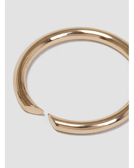 Helena Rohner | Metallic Open Thin Wire Ring Gold Plated Brass | Lyst