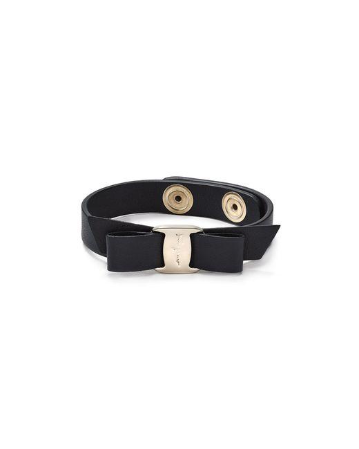 Ferragamo   Blue Leather Vara Single Wrap Bracelet   Lyst