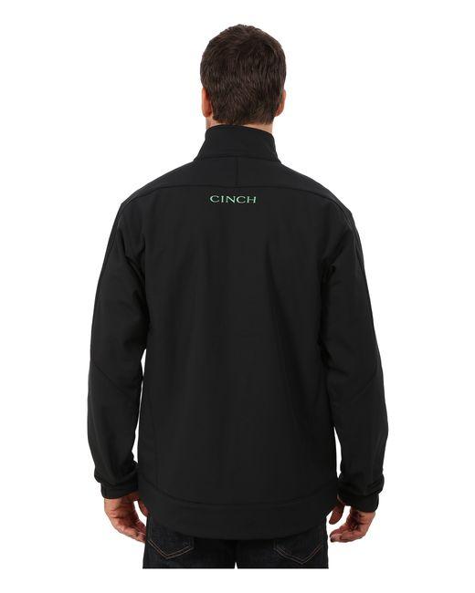 Cinch Bonded Jacket In Black For Men Lyst