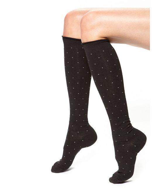 Hue | Black Dotted Knee Socks | Lyst