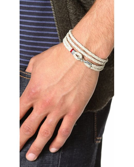 Miansai | Gray Trice Woven Leather Wrap Bracelet for Men | Lyst