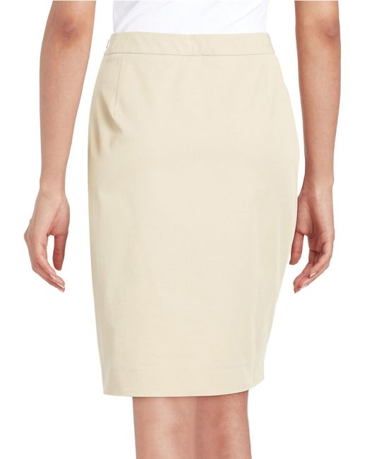 weekend by maxmara corsica stretch cotton pencil skirt in
