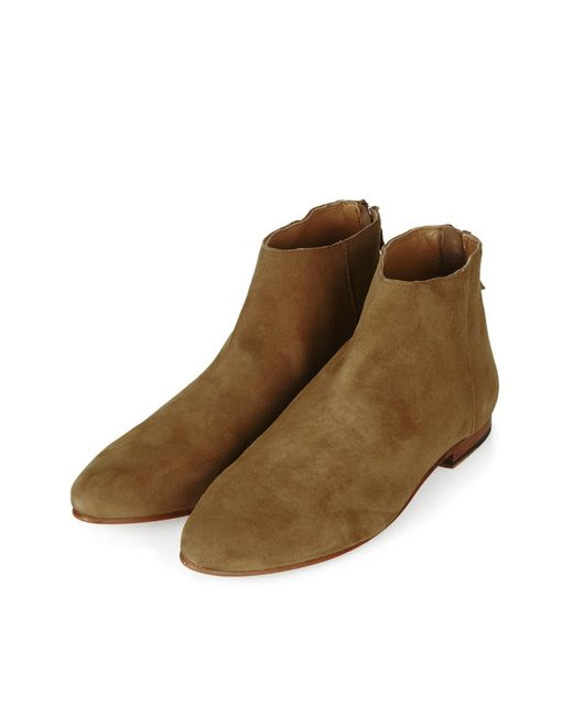 topshop apple bee ankle boots in brown save 50 lyst