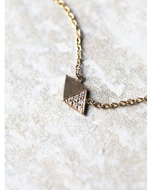 Free People | Pink Half Diamond Necklace | Lyst