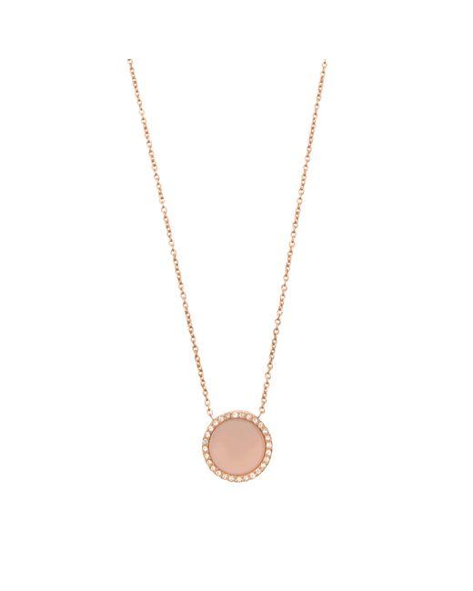 MICHAEL Michael Kors | Metallic Halskette Rose Gold & Blush | Lyst