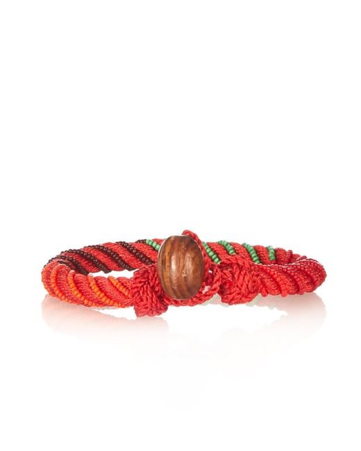 Aurelie Bidermann | Red Maya Bead-embellished Bracelet | Lyst