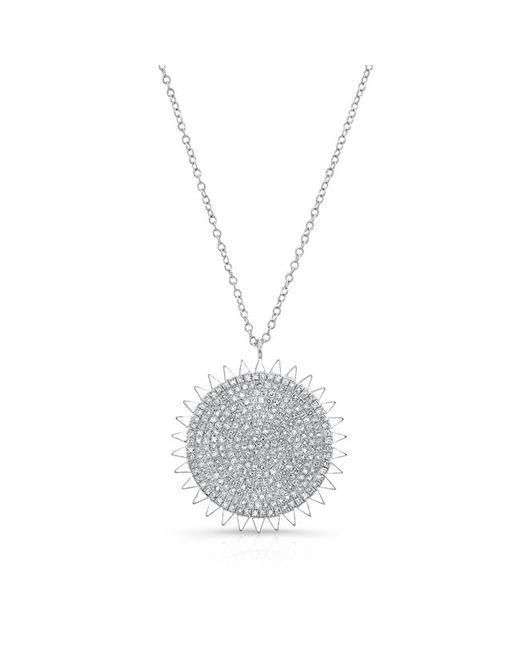 Anne Sisteron   Metallic 14kt White Gold Diamond Sun Necklace   Lyst