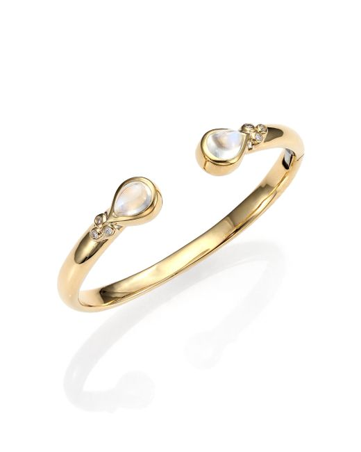 Temple St. Clair | Metallic Bella Royal Blue Moonstone, Diamond & 18k Yellow Gold Bracelet | Lyst