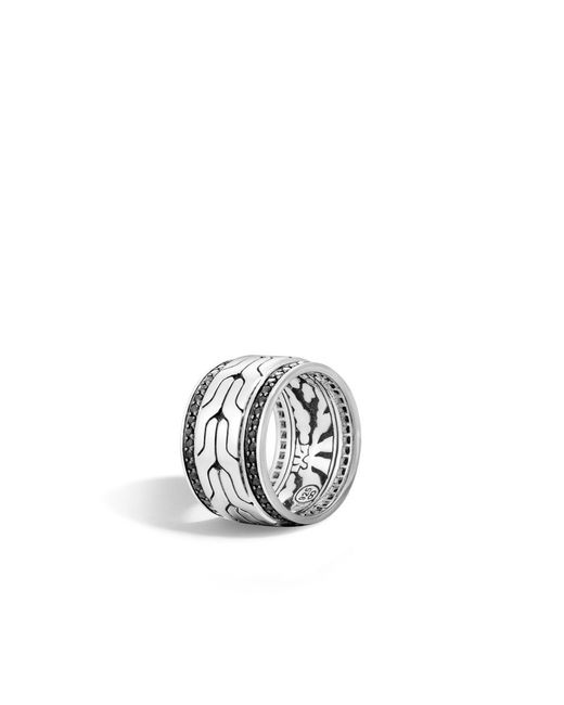 John Hardy | Metallic Classic Chain Band Ring With Black Sapphire for Men | Lyst