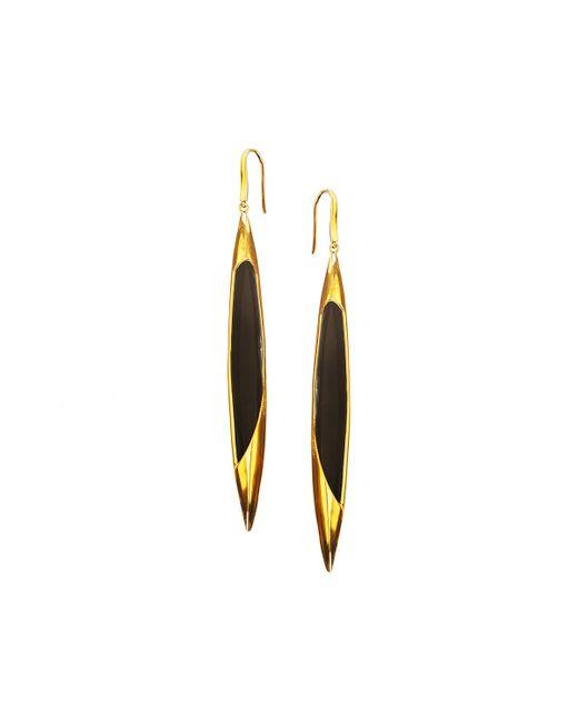 Lana Jewelry | Yellow 14k Elite Jet Spike Onyx Earrings | Lyst