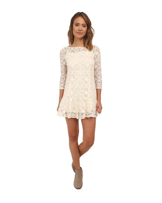 Free People | Natural Cross Dye Lace Walking To The Sun | Lyst