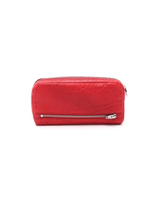 Alexander Wang | Red Fumo Continental Wallet | Lyst