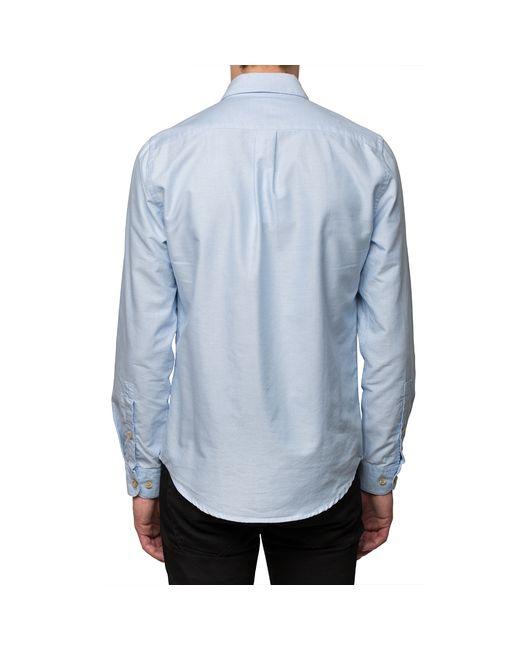 Portuguese Flannel Light Blue Videira Shirt In Blue For