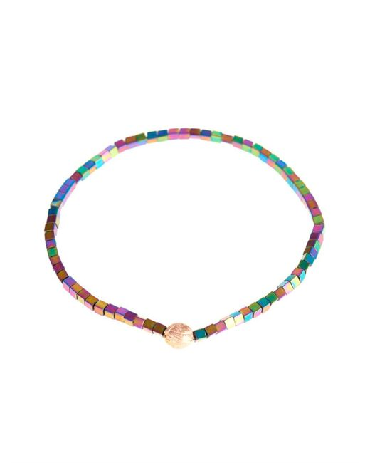 Luis Morais | Metallic Rose-gold And Square-bead Bracelet for Men | Lyst