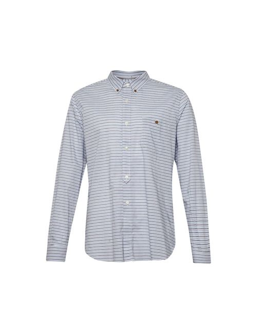 French Connection | Blue Boilly Stripe Slim Fit Long Sleeve Shirt for Men | Lyst