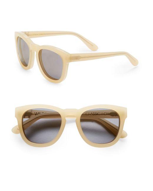 Wildfox | Natural Fox Deluxe Plastic Wayfarer Sunglasses | Lyst
