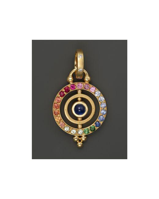 Temple St. Clair | Multicolor 18k Gold Mini Tolomeo Pendant With Multi-colored Sapphires And Diamonds | Lyst