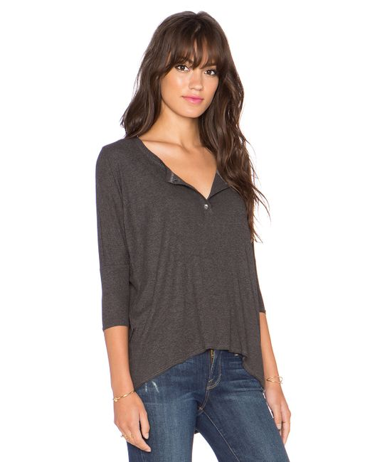 Dolan 3 4 henley tee in gray save 61 lyst for 3 4 henley shirt