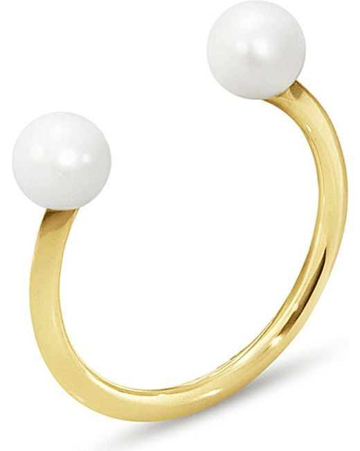 Georg Jensen | Metallic Neva 18ct Yellow-gold Pearl Ring | Lyst