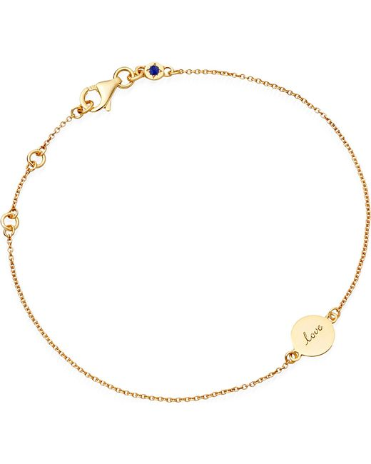 Astley Clarke | Metallic Tiny Love Disc 18ct Gold Charm Bracelet - For Women | Lyst
