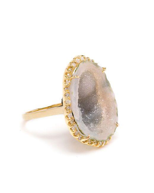 Kimberly Mcdonald | Green 18k Yellow Gold Diamond & Geode Ring | Lyst