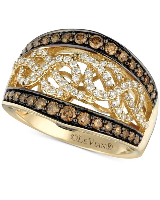 Le Vian | Brown Chocolatier® Chocolate And White Diamond (1 Ct. T.w.) Band In 14k Gold | Lyst