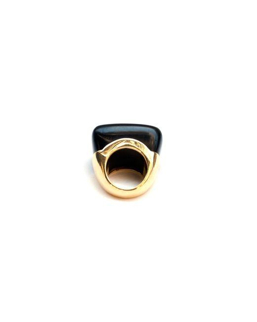 Kara Ross   Black Gold And Diamond Jet Ring   Lyst