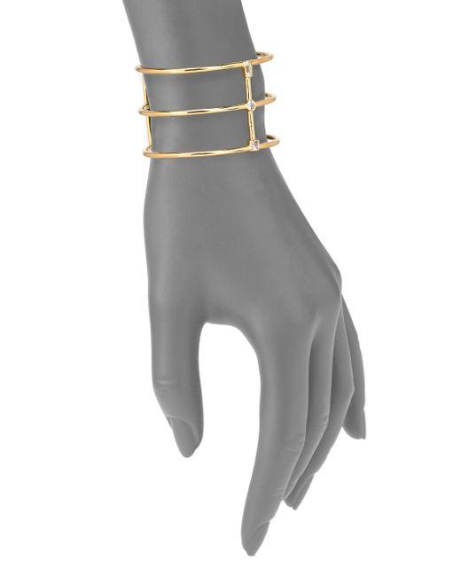 Elizabeth and James | Metallic Monroe White Topaz Cuff Bracelet | Lyst