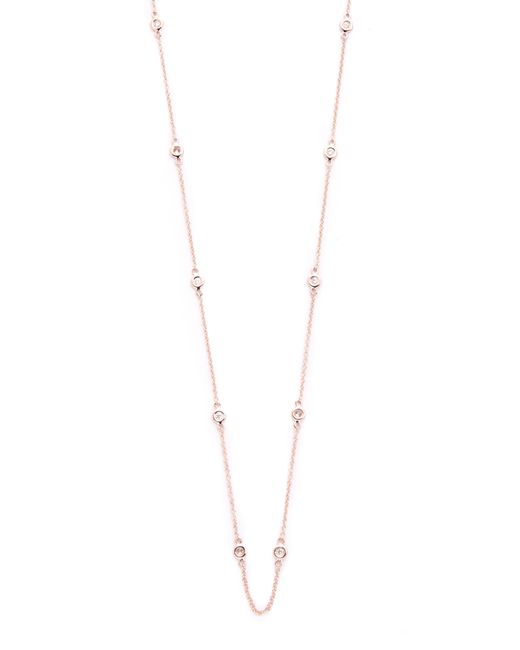 EF Collection | Pink 10 Diamond Strand Necklace | Lyst