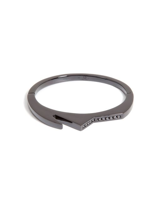 Lynn Ban | Black Rhodium Bracelet 3 With Black Diamonds | Lyst
