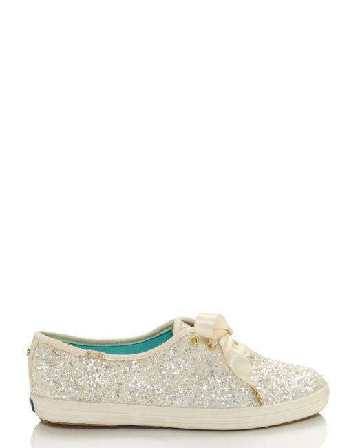Kate Spade | White Keds For Glitter Sneakers | Lyst