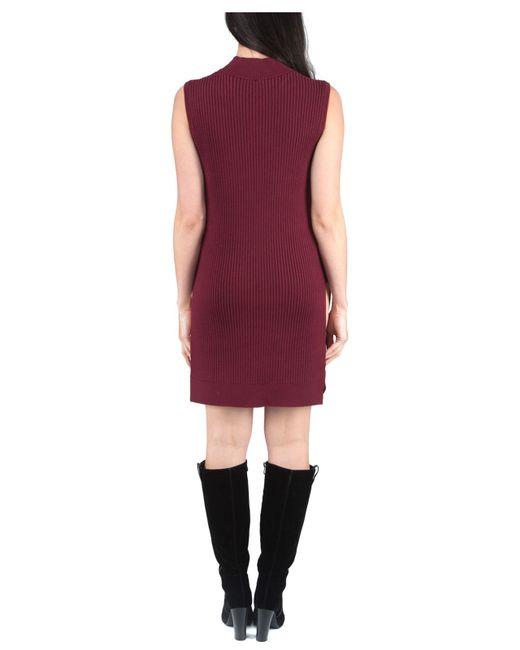 Jane Norman | Purple Sleeveless Side Split Jumper | Lyst