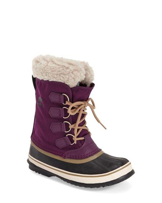 Sorel | Purple Winter Carnival Snow Boots | Lyst
