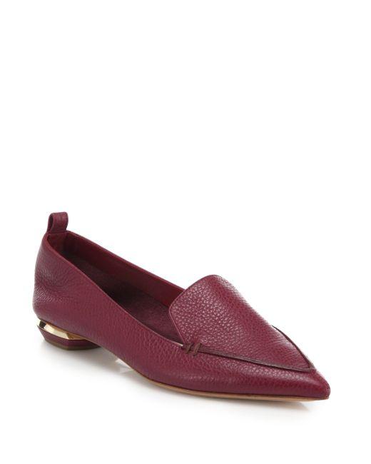 Nicholas Kirkwood   Purple Beya Leather Loafers   Lyst