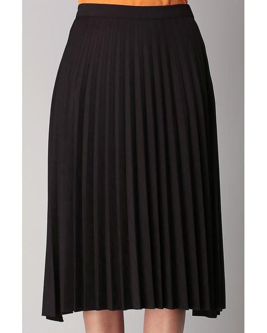vila midi skirt maxi skirt in black lyst