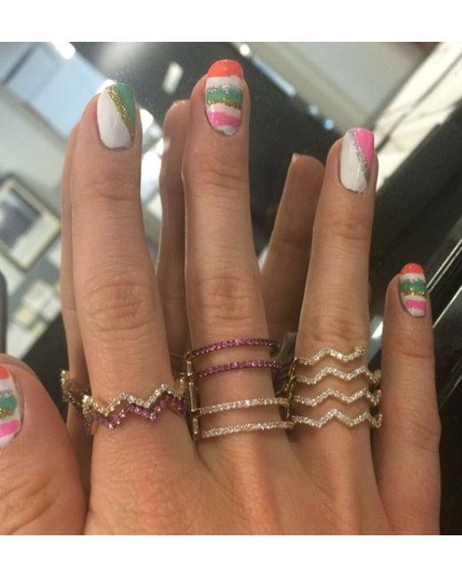 Khai Khai | Pink Sapphire Rachel Bar Ring | Lyst