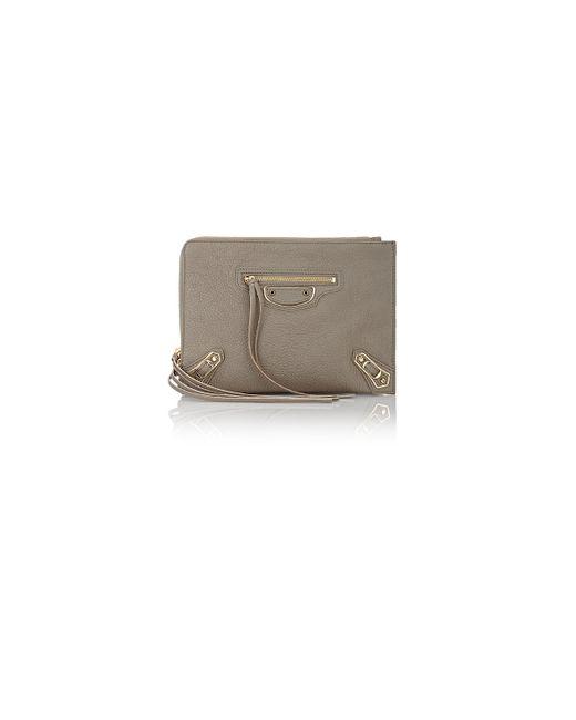 Balenciaga   Gray Metallic Edge Small Pouch   Lyst