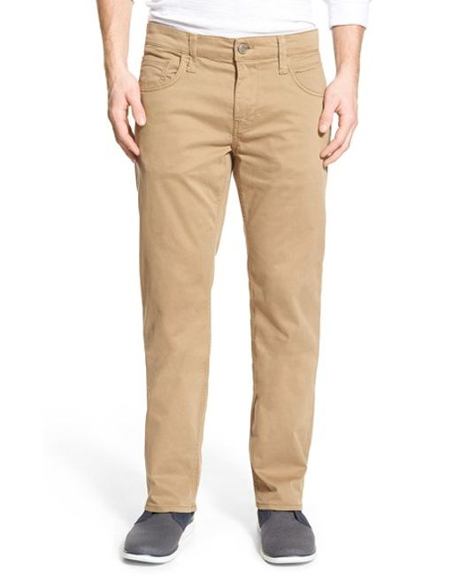Mavi Jeans | Blue 'zach' Straight Leg Twill Pants for Men | Lyst